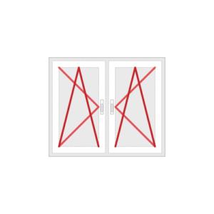 Drehkippfenster 2-flg. oder Balkontür