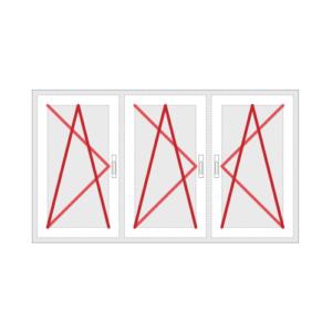 Drehkippfenster 3-flg. oder Balkontür