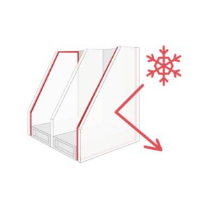 Wärmeschutzglass,3-fach Ug=0,5